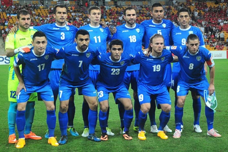 нанесение для сборной Узбекистана